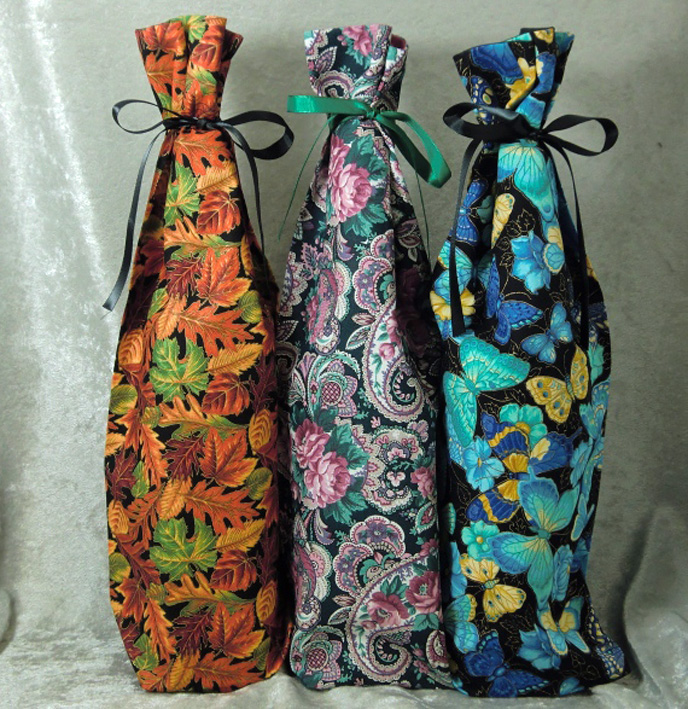 Fabric Wine Bottle Bags 2017 Spring Gift Ideas