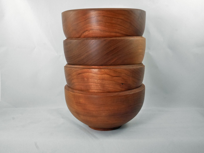 Turned Cherry Wood Bowls 2017 Spring Gift Ideas