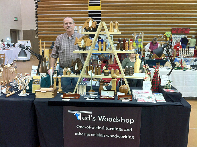 Ted's Woodshop at Holiday Art and Craft Fairs