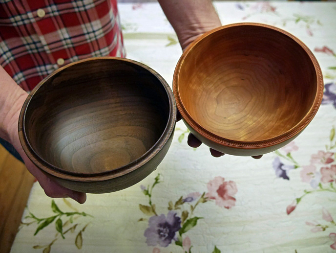 Wooden Popcorn Bowls