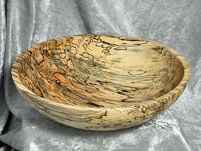 Spalted Maple Bowl Food-Safe Finish