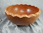 Cherry Bowl with Scalloped Edge