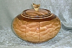 Quilted Maple and Black Cherry Stave Bowl