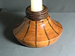Cherry walnut candle holder
