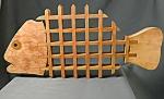 Wooden Trivet Fish