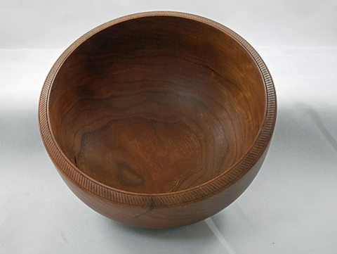 Turned Cherry Bowl