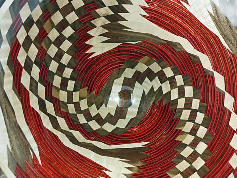 Closeup of Dizzy Bowl Pattern
