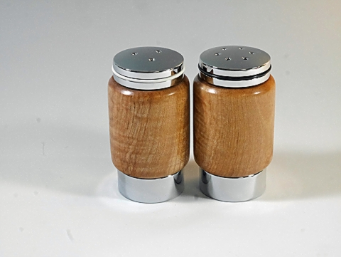 Figured Maple Salt and Pepper Set