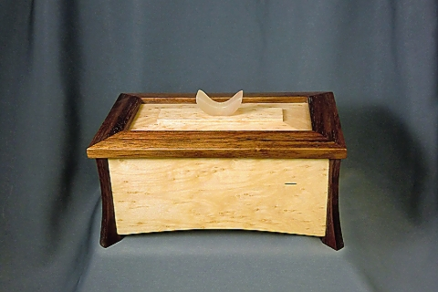 Lidded Box Maple and Koa
