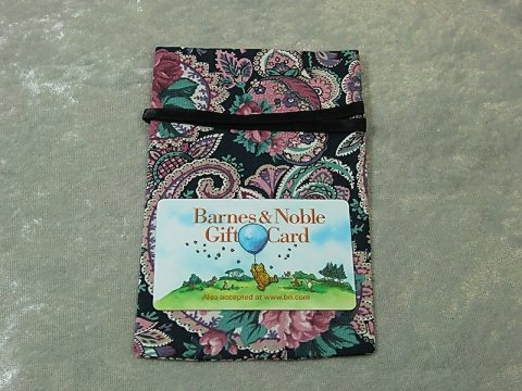 Fabric Bag Sized for Gift Card