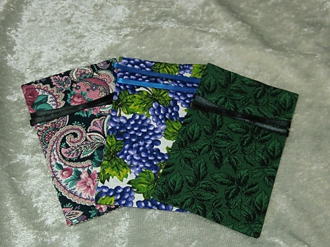 Three Fabric Gift Card Bags