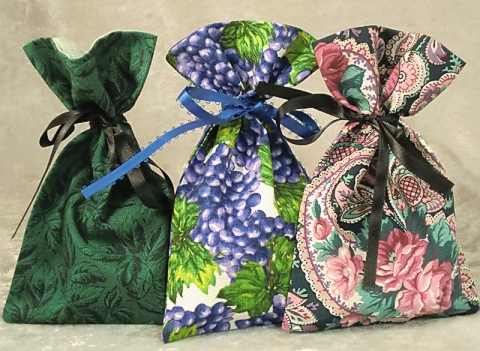 Fabric Gift Card Bags