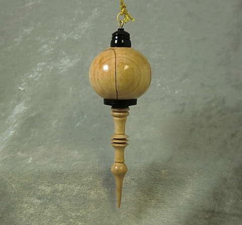 Turned Wooden Ornament