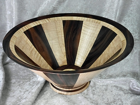 Morado and Maple Tapered Stave Bowl