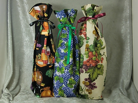 Fabric Wine Bottle Bags