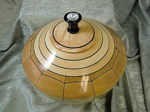 Turned Lidded Stave Bowl