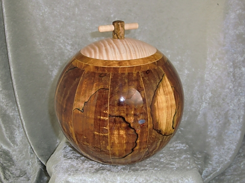 Lidded Bowl, Maple